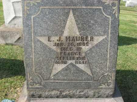 MAURER, E.J. - Northampton County, Pennsylvania   E.J. MAURER - Pennsylvania Gravestone Photos