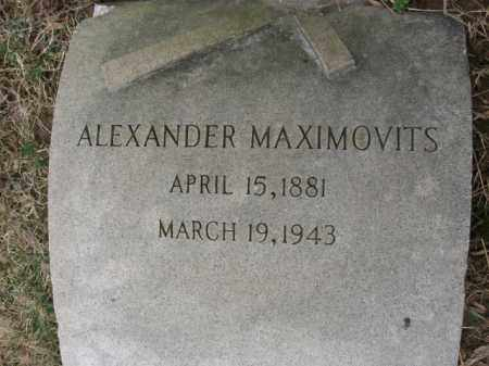 MAXIMOVITS, ALEXANDER - Northampton County, Pennsylvania | ALEXANDER MAXIMOVITS - Pennsylvania Gravestone Photos
