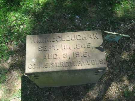 MCCLOUGHAN, WILLIAM - Northampton County, Pennsylvania | WILLIAM MCCLOUGHAN - Pennsylvania Gravestone Photos