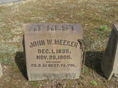 MEEKER, JOHN W. - Northampton County, Pennsylvania   JOHN W. MEEKER - Pennsylvania Gravestone Photos