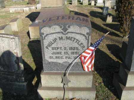 METTLER (CW), PHILIP M. - Northampton County, Pennsylvania | PHILIP M. METTLER (CW) - Pennsylvania Gravestone Photos