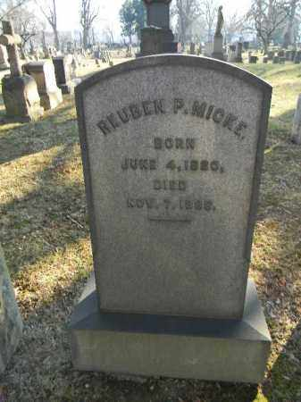 MICKE, REUBEN P. - Northampton County, Pennsylvania   REUBEN P. MICKE - Pennsylvania Gravestone Photos