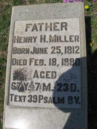 MILLER, HENRY H. - Northampton County, Pennsylvania   HENRY H. MILLER - Pennsylvania Gravestone Photos