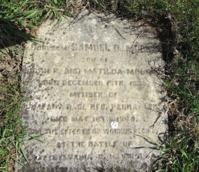 MOORE (CW), SAMUEL B. - Northampton County, Pennsylvania | SAMUEL B. MOORE (CW) - Pennsylvania Gravestone Photos