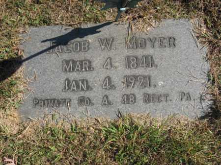 MOYER, JACOB W. - Northampton County, Pennsylvania | JACOB W. MOYER - Pennsylvania Gravestone Photos