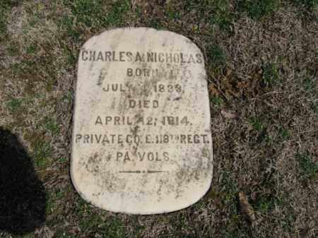 NICHOLAS (CW), PVT. CHARLES A. - Northampton County, Pennsylvania | PVT. CHARLES A. NICHOLAS (CW) - Pennsylvania Gravestone Photos