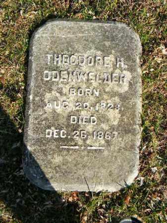 ODENWELDER (CW), THEODORE H. - Northampton County, Pennsylvania   THEODORE H. ODENWELDER (CW) - Pennsylvania Gravestone Photos