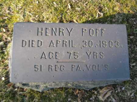 POFF (CW), HENRY - Northampton County, Pennsylvania   HENRY POFF (CW) - Pennsylvania Gravestone Photos