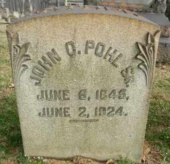 POHL,SR., JOHN O. - Northampton County, Pennsylvania | JOHN O. POHL,SR. - Pennsylvania Gravestone Photos
