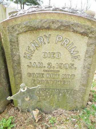 PRIME, HENRY - Northampton County, Pennsylvania | HENRY PRIME - Pennsylvania Gravestone Photos