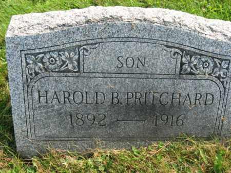 PRITCHARD, HAROLD B. - Northampton County, Pennsylvania   HAROLD B. PRITCHARD - Pennsylvania Gravestone Photos