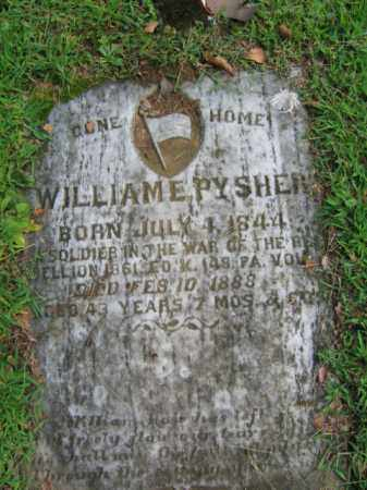 PYSHER, WILLIAM E. - Northampton County, Pennsylvania | WILLIAM E. PYSHER - Pennsylvania Gravestone Photos