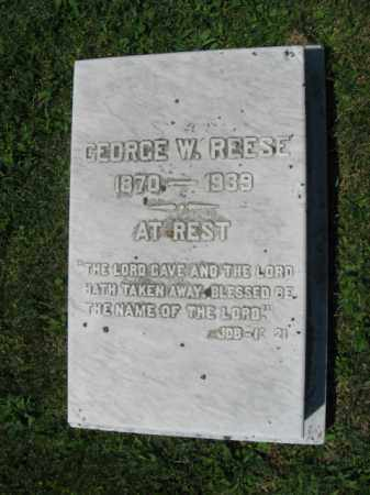 REESE, GEORGE W. - Northampton County, Pennsylvania | GEORGE W. REESE - Pennsylvania Gravestone Photos