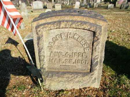 REESE, JACOB H. - Northampton County, Pennsylvania   JACOB H. REESE - Pennsylvania Gravestone Photos