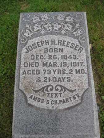 REESER, JOSEPH H. - Northampton County, Pennsylvania | JOSEPH H. REESER - Pennsylvania Gravestone Photos