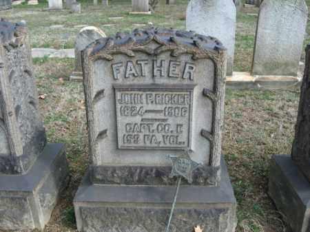 RICKER, CAPTAIN JOHN P. - Northampton County, Pennsylvania | CAPTAIN JOHN P. RICKER - Pennsylvania Gravestone Photos