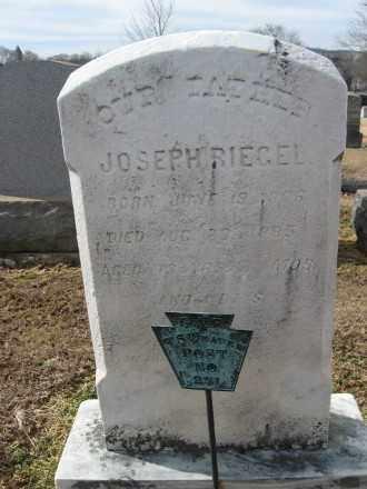 RIEGEL, JOSEPH - Northampton County, Pennsylvania   JOSEPH RIEGEL - Pennsylvania Gravestone Photos