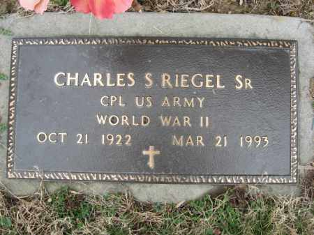 RIEGEL,SR. (WW II), CHARLES S. - Northampton County, Pennsylvania | CHARLES S. RIEGEL,SR. (WW II) - Pennsylvania Gravestone Photos