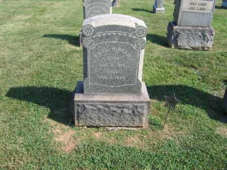 RINKER (CW), PAUL - Northampton County, Pennsylvania | PAUL RINKER (CW) - Pennsylvania Gravestone Photos