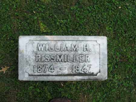 RISSMILLER, WILLIAM H. - Northampton County, Pennsylvania | WILLIAM H. RISSMILLER - Pennsylvania Gravestone Photos