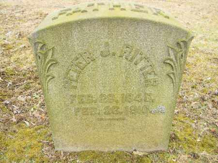 RITTER, PETER J. - Northampton County, Pennsylvania   PETER J. RITTER - Pennsylvania Gravestone Photos