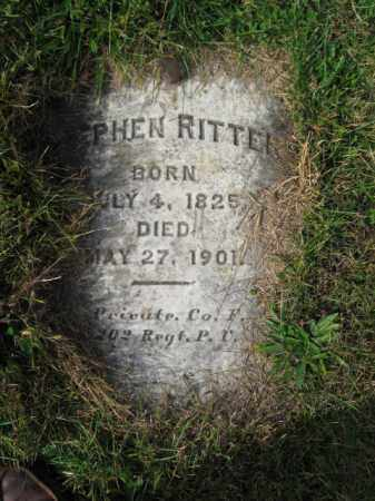 RITTER (CW), PVT. STEPHEN - Northampton County, Pennsylvania | PVT. STEPHEN RITTER (CW) - Pennsylvania Gravestone Photos