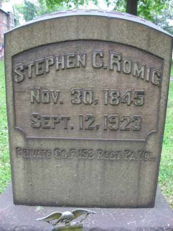 ROMIG, STEPHEN C. - Northampton County, Pennsylvania | STEPHEN C. ROMIG - Pennsylvania Gravestone Photos