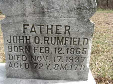 RUMFIELD, JOHN O. - Northampton County, Pennsylvania | JOHN O. RUMFIELD - Pennsylvania Gravestone Photos
