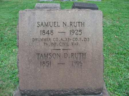 RUTH, TAMSON D. - Northampton County, Pennsylvania | TAMSON D. RUTH - Pennsylvania Gravestone Photos