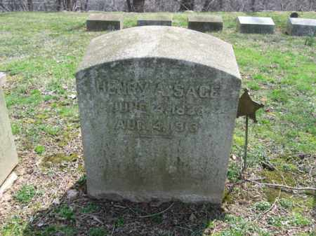 SAGE, HENRY A. - Northampton County, Pennsylvania | HENRY A. SAGE - Pennsylvania Gravestone Photos
