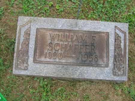 SCHAFFER, WILLIAM F. - Northampton County, Pennsylvania | WILLIAM F. SCHAFFER - Pennsylvania Gravestone Photos