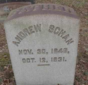 SCHAN, ANDREW - Northampton County, Pennsylvania | ANDREW SCHAN - Pennsylvania Gravestone Photos