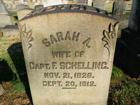 SCHELLING, SARAH A. - Northampton County, Pennsylvania   SARAH A. SCHELLING - Pennsylvania Gravestone Photos