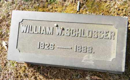 SCHLOSSER, WILLIAM W. - Northampton County, Pennsylvania | WILLIAM W. SCHLOSSER - Pennsylvania Gravestone Photos