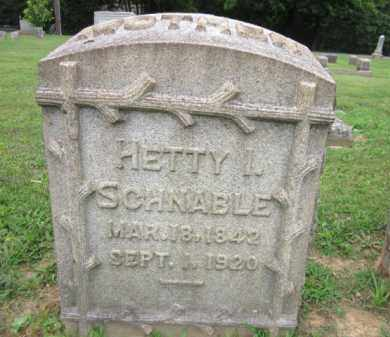 SCHNABLE, HETTY - Northampton County, Pennsylvania   HETTY SCHNABLE - Pennsylvania Gravestone Photos