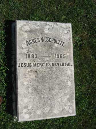 SCHULTZE, AGNES W. - Northampton County, Pennsylvania | AGNES W. SCHULTZE - Pennsylvania Gravestone Photos