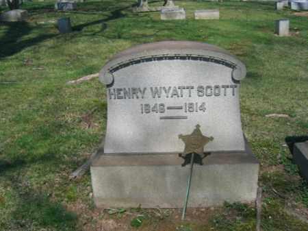 SCOTT, HENRY WYATT - Northampton County, Pennsylvania | HENRY WYATT SCOTT - Pennsylvania Gravestone Photos