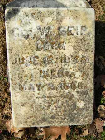 SEIP (CW), GEORGE W. - Northampton County, Pennsylvania   GEORGE W. SEIP (CW) - Pennsylvania Gravestone Photos