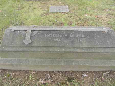 SELFRIDGE, MATTHEW M. - Northampton County, Pennsylvania | MATTHEW M. SELFRIDGE - Pennsylvania Gravestone Photos