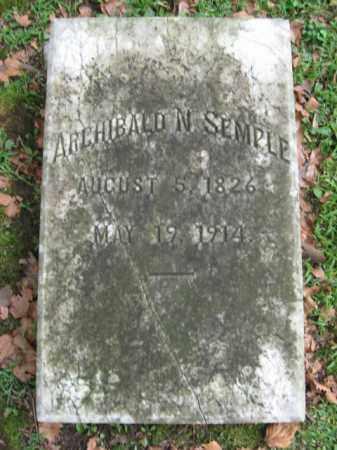 SEMPLE, ARCHIBALD N. - Northampton County, Pennsylvania | ARCHIBALD N. SEMPLE - Pennsylvania Gravestone Photos