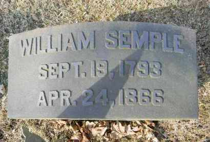 SEMPLE, WILLIAM - Northampton County, Pennsylvania   WILLIAM SEMPLE - Pennsylvania Gravestone Photos