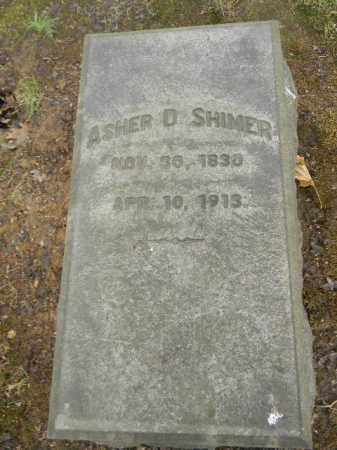 SHIMER, ASHER D. - Northampton County, Pennsylvania | ASHER D. SHIMER - Pennsylvania Gravestone Photos