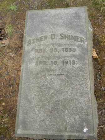 SHIMER, ASHER D. - Northampton County, Pennsylvania | ASHER D. SHIMER - Pennsylvania Gravestone Photos