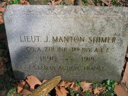 SHIMER, J. MANTON - Northampton County, Pennsylvania | J. MANTON SHIMER - Pennsylvania Gravestone Photos