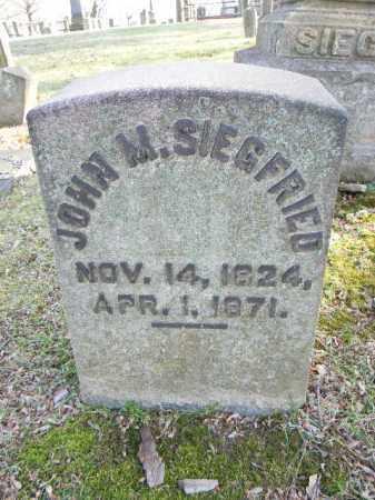 SIEGFRIED, JOHN M. - Northampton County, Pennsylvania | JOHN M. SIEGFRIED - Pennsylvania Gravestone Photos