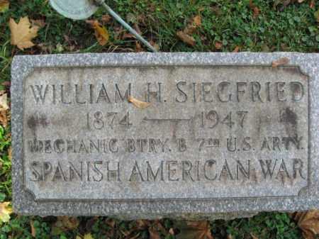 SIEGFRIED (SAW), WILLIAM H. - Northampton County, Pennsylvania   WILLIAM H. SIEGFRIED (SAW) - Pennsylvania Gravestone Photos
