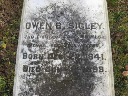SIGLEY (CW), OWEN B. - Northampton County, Pennsylvania   OWEN B. SIGLEY (CW) - Pennsylvania Gravestone Photos