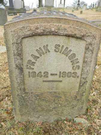 SIMONS (CW), FRANK - Northampton County, Pennsylvania   FRANK SIMONS (CW) - Pennsylvania Gravestone Photos