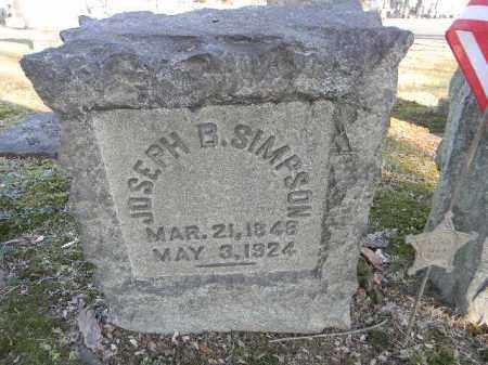 SIMPSON, JOSEPH B. - Northampton County, Pennsylvania | JOSEPH B. SIMPSON - Pennsylvania Gravestone Photos