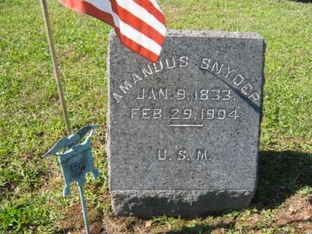 SNYDER (CW), AMANDUS - Northampton County, Pennsylvania   AMANDUS SNYDER (CW) - Pennsylvania Gravestone Photos